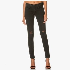 Rag & Bone The Skinny Jeans in Rock With Holes